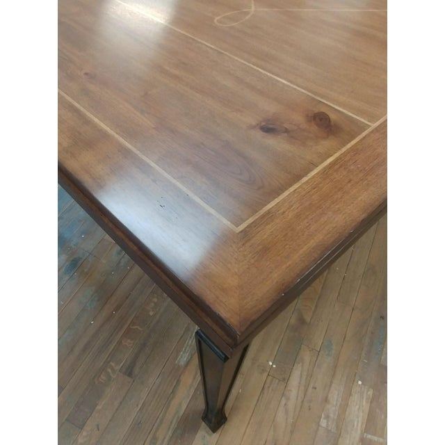 Henredon Furniture Acquisitions European Refectory Walnut Dining Table For Sale - Image 10 of 11