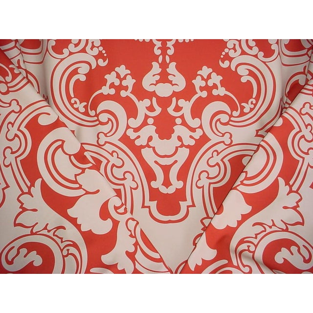 Scalamandre Brentwood Coral Sand French Damask Upholstery Fabric - 6 Yards For Sale