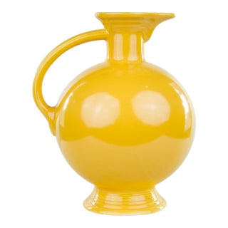 1970s Mid-Century Modern Yellow Ceramic Pitcher For Sale