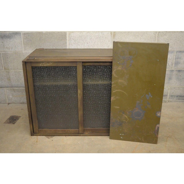 Early 20th Century 20th Century Industrial Remington Rand Green Steel Metal Stacking Barrister Storage Cabinet For Sale - Image 5 of 13