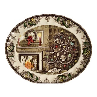 Vintage Johnson Bros. English 'Friendly Village- the Christmas' Serving Platter For Sale