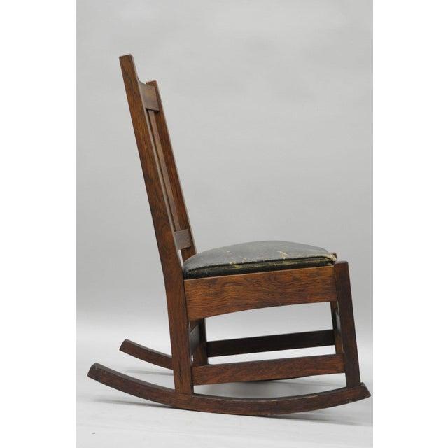 L. & J.G. Stickley, Inc. L. & J.G. Stickley, Inc. Mission Oak Youth Nursing Rocking Chair For Sale - Image 4 of 11