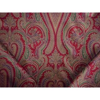 Renaissance Lee Jofa Bellano Paisley Ratti Handprint Velvet Upholstery Fabric - 5y For Sale