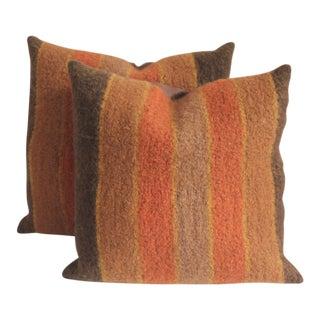 19th Century Alpaca Striped Weaving Pillows For Sale