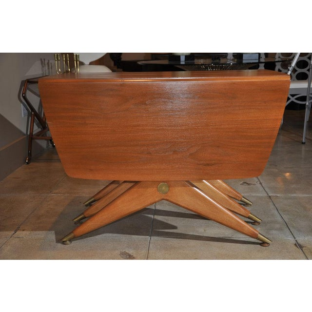 Metal 1950s Mid-Century Modern Drop Leaf Table For Sale - Image 7 of 9