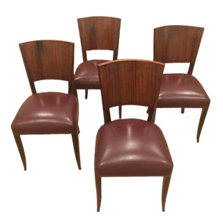 Vintage Parisian Art Deco Chairs - Set of 4 For Sale