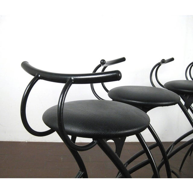Postmodern Italian Bar Stools- Set of 5 For Sale In Boston - Image 6 of 10