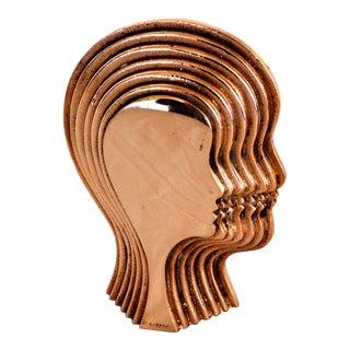 Cantarel Arman Style Modernist Head Sculpture For Sale
