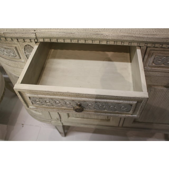 2010s Swedish Gustavian Enfilade Buffet For Sale - Image 5 of 9