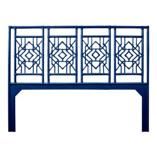 Tulum Headboard King - Navy Blue For Sale
