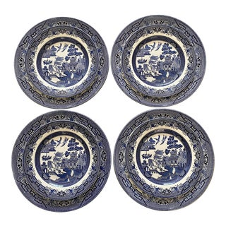 Chinoiserie Blue & White Plates, Set/8 For Sale