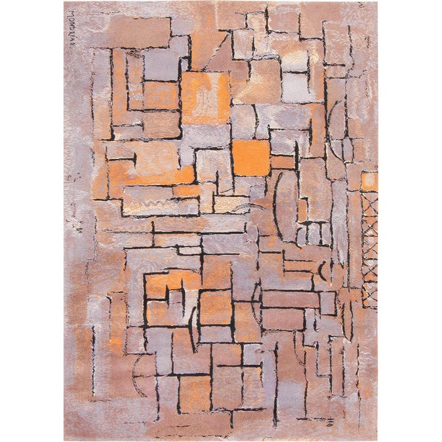 Contemporary Scandinavian Swedish Wool Rug After Piet Mondrian - 8′ × 11′ For Sale - Image 3 of 3