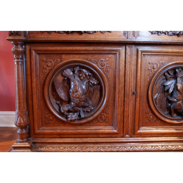 Brown Carved French Oak Cabinet For Sale - Image 8 of 13