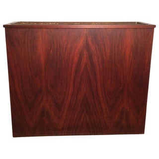 Vintage Mid Century Large Rosewood Planter For Sale
