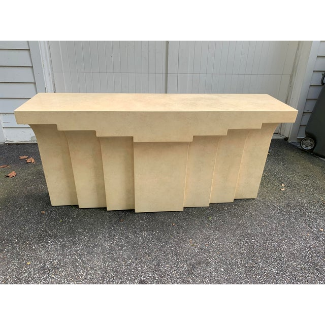 Postmodern Lacquered Stepped Console For Sale - Image 12 of 12