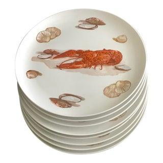 Japanese Lobster & Clam Dinner Plates - Set of 8