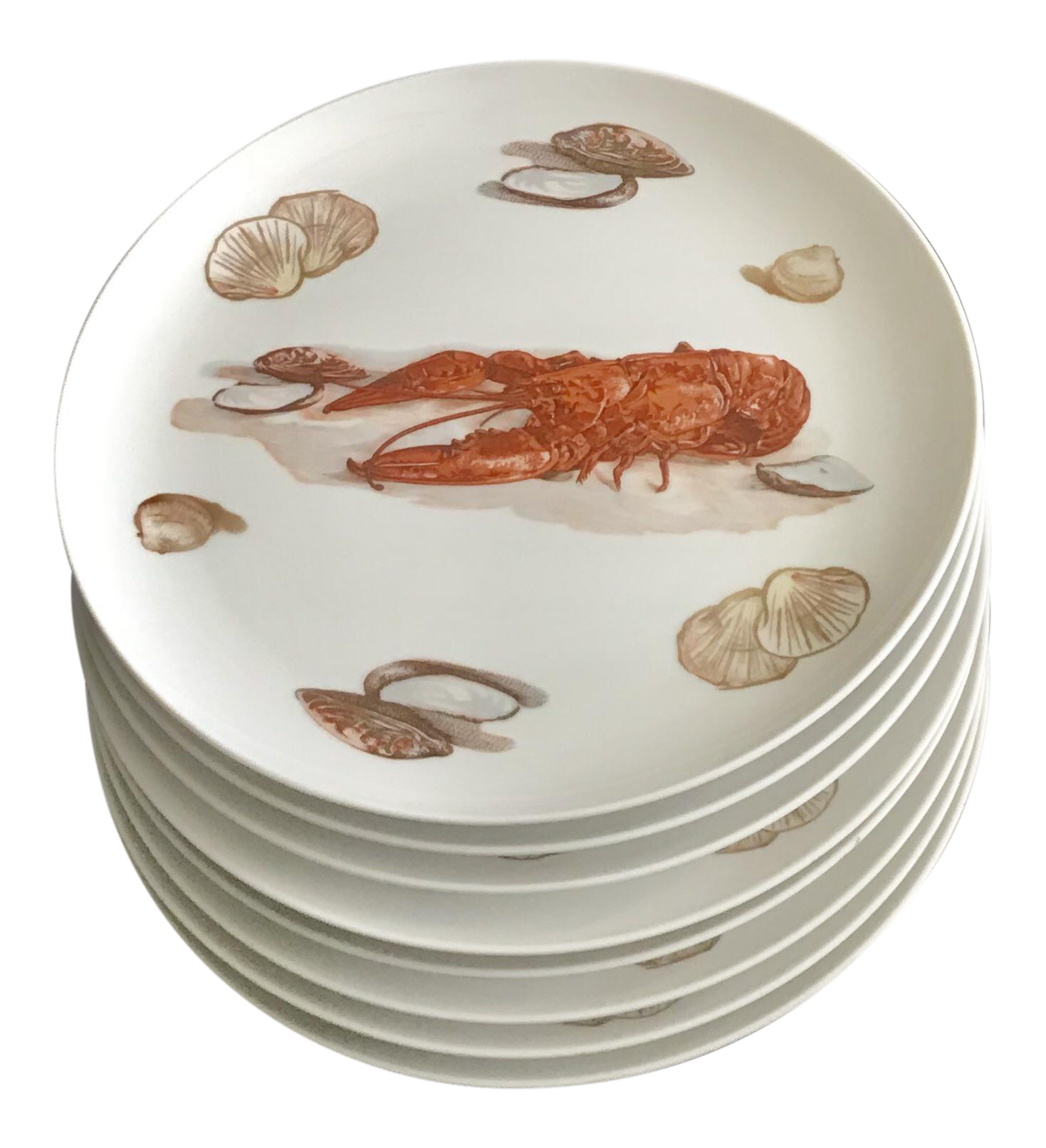 Japanese Lobster u0026 Clam Dinner Plates - Set of 8  sc 1 st  Chairish & Japanese Lobster u0026 Clam Dinner Plates - Set of 8 | Chairish