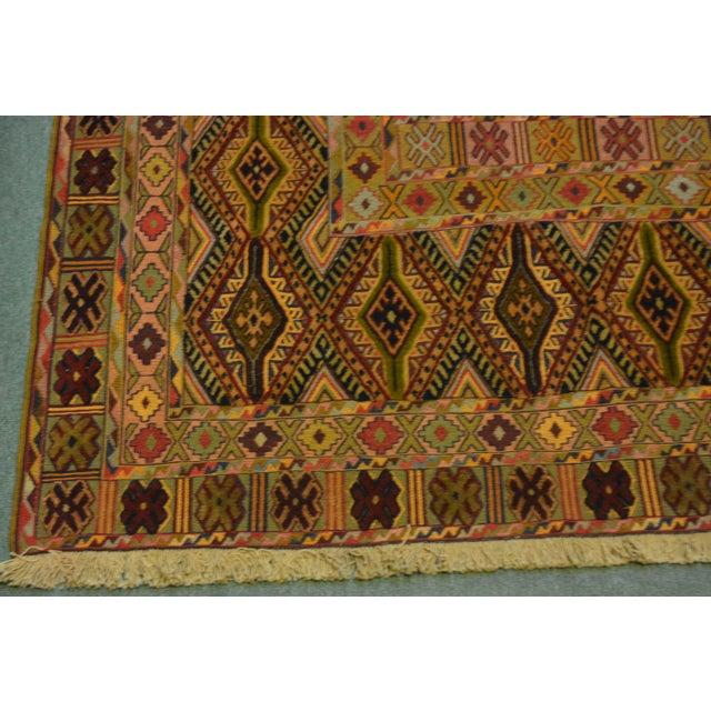 """Vintage Handmade Nakhunak Kilim Rug - 4'5"""" x 5'7"""" For Sale - Image 5 of 7"""