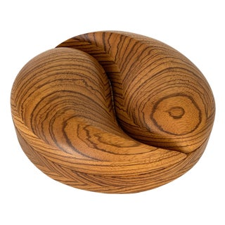 Carved Sculptural Zebrawood Box by Steven Spiro For Sale