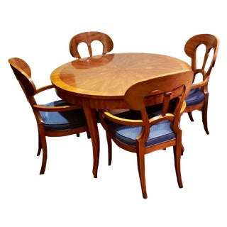 John Widdecomb Dining Table & Captain Chairs For Sale