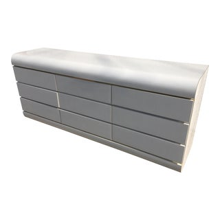 1980s Post Modern Pierre Cardin Style White Low Dresser