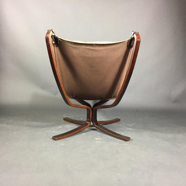 """Sigurd Ressell Yellow """"Falcon"""" Low Back Lounge Chair, 1970s For Sale - Image 9 of 12"""