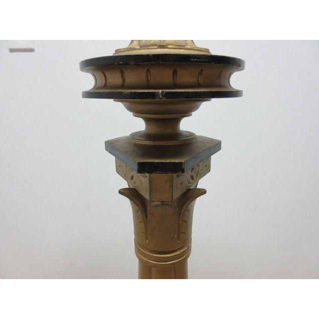 Antique Victorian Masonic Mason Taper Pole Lamp - Image 4 of 7