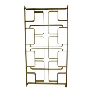 1960s Gold Tone Solid Steel Room Divider For Sale