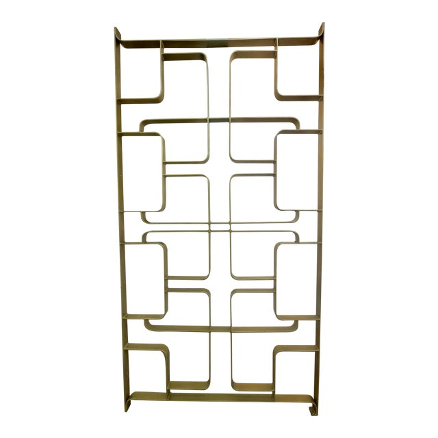1960s Gold Tone Solid Steel Room Divider For Sale