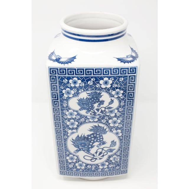 Blue Japanese Large Blue and White Planter Vessel For Sale - Image 8 of 11