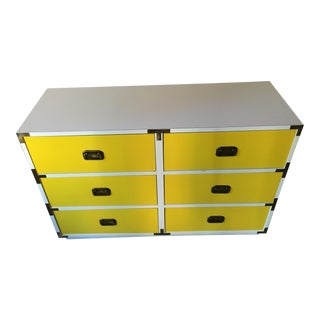 1970s Mid-Century Modern Campaign Dresser For Sale