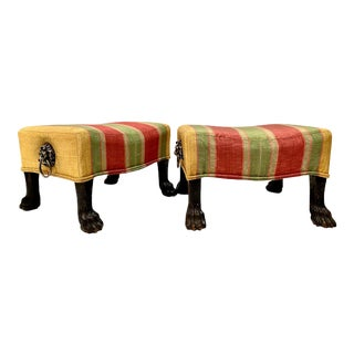 Regency Foot Stools - A Pair For Sale