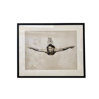 1990s Framed Diver Photographic Print For Sale