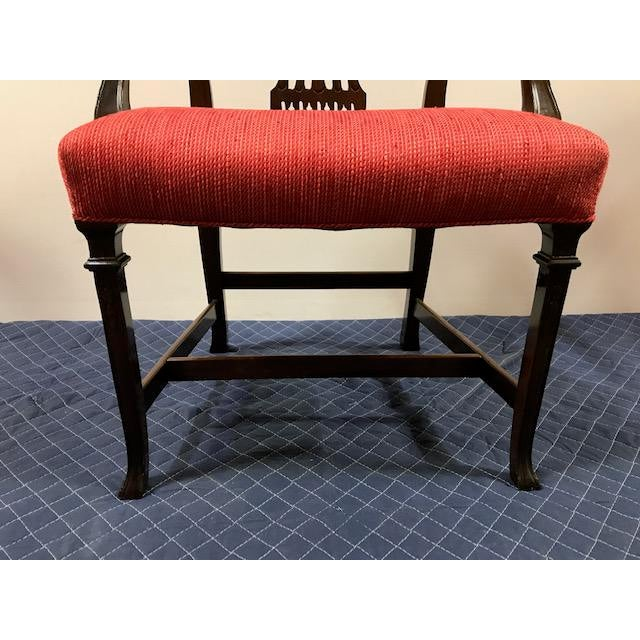 Mahogany 1940s Vintage Chippendale Mahogany Dining- Set of 10 For Sale - Image 7 of 8