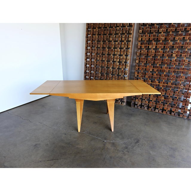 Brown 1940s Dan Johnson Dining Table For Sale - Image 8 of 10