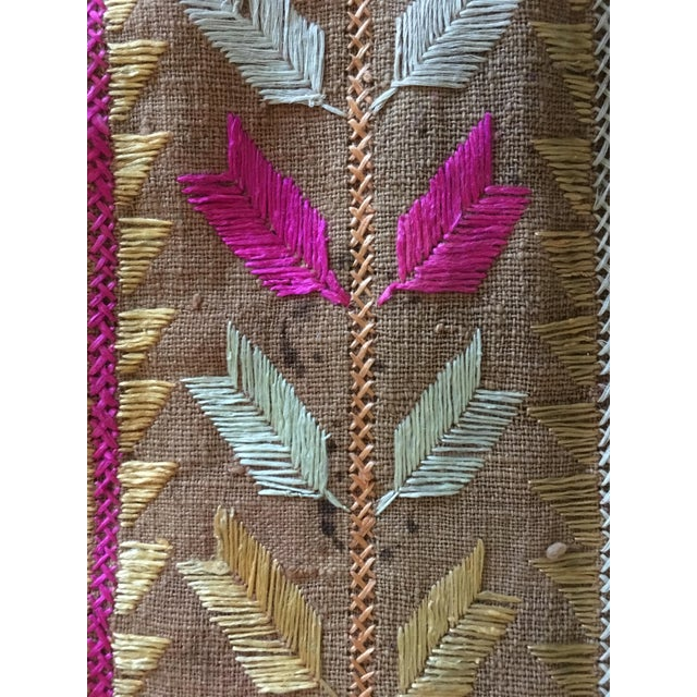 Antique Indian Phulkari Fabric Panels - A Pair - Image 6 of 12