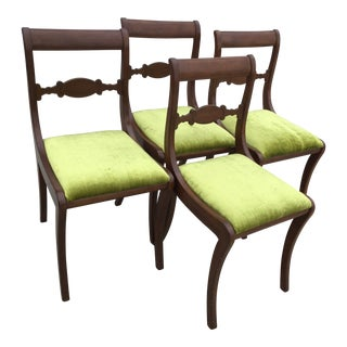 1930s Americana Charlotte Chair Co Walnut Dining Chairs - Set of 4 For Sale