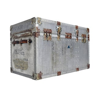 Korean War Era Vintage Aluminum Military Trunk