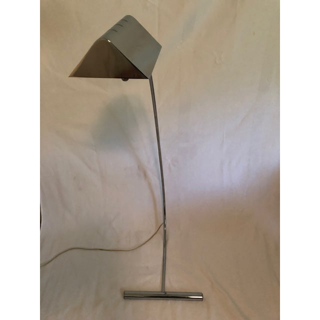 1970s 1970s Vintage Arched Mid-Century Chrome Floor Lamp For Sale - Image 5 of 10