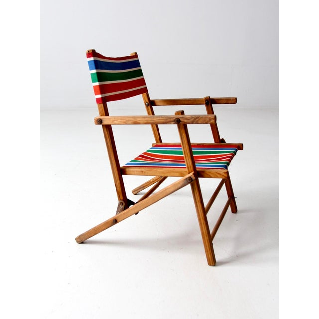 Mid 20th Century Mid-Century Kid's Folding Chair For Sale - Image 5 of 10