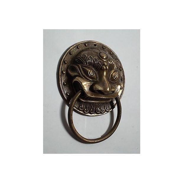 Brass Foo Dog Door Knocker - Image 3 of 5