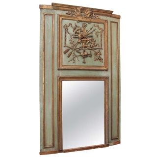 Painted & Gilded Trumeau Mirror