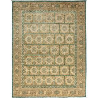 """Khotan Hand Knotted Area Rug - 9'3"""" X 11'10"""" For Sale"""