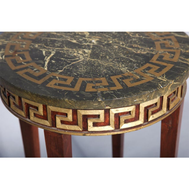 Greek Key Carved Accent Table - Image 7 of 10