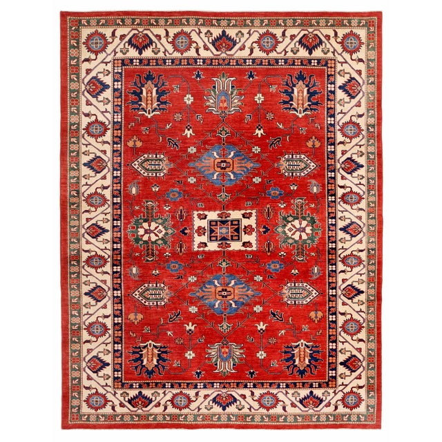 "Red Kazak Area Rug - 9'1"" X 11'8"" - Image 1 of 2"