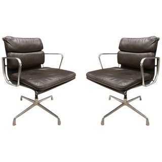 Pair Eames for Herman Miller Soft Pad Chairs For Sale