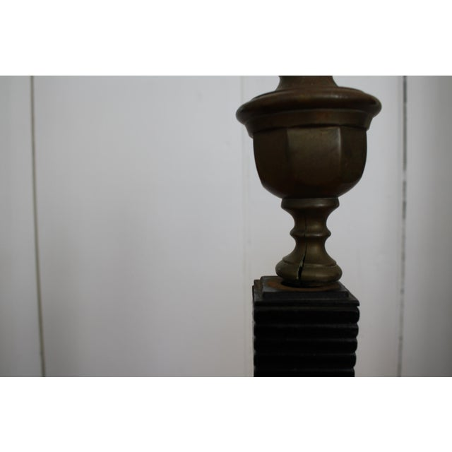 Solid Brass & Cast Iron Andirons - A Pair For Sale - Image 4 of 4