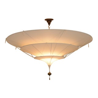 Fortuny Scheherazade Three-Tier White Silk Chandelier For Sale