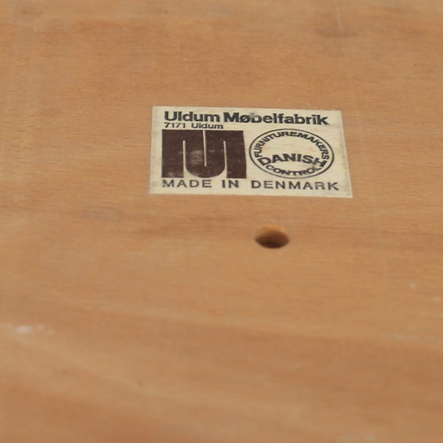 Mid Century Danish Modern Johannes Andersen for Uldum Møbelfabrik Dining Chairs- A Pair For Sale - Image 10 of 11