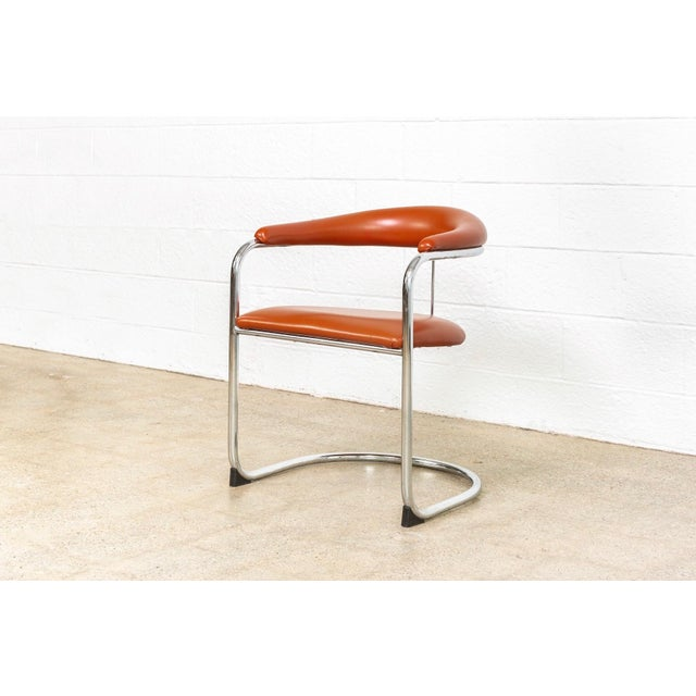 Chrome Mid Century Anton Lorenz Cantilever Chairs For Sale - Image 7 of 11